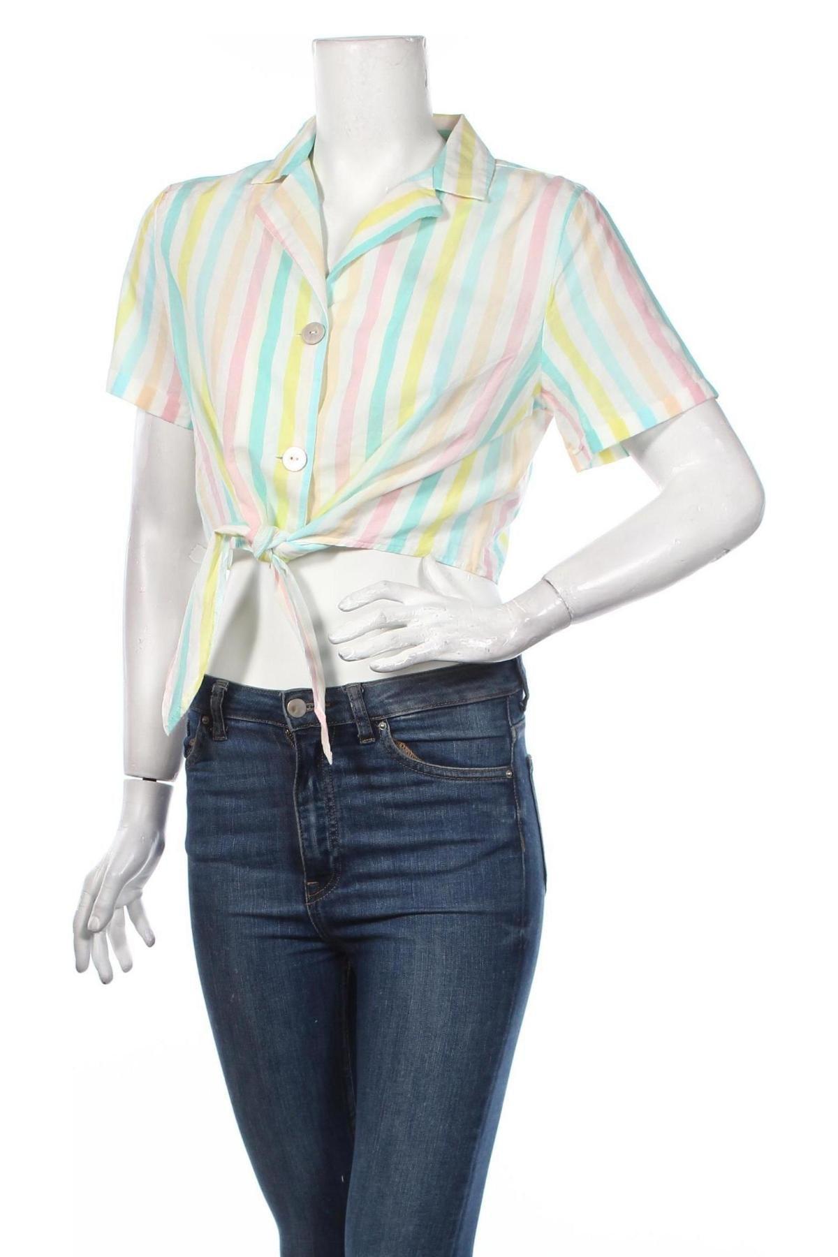 Дамска риза Clockhouse, Размер L, Цвят Многоцветен, Памук, Цена 19,08лв.