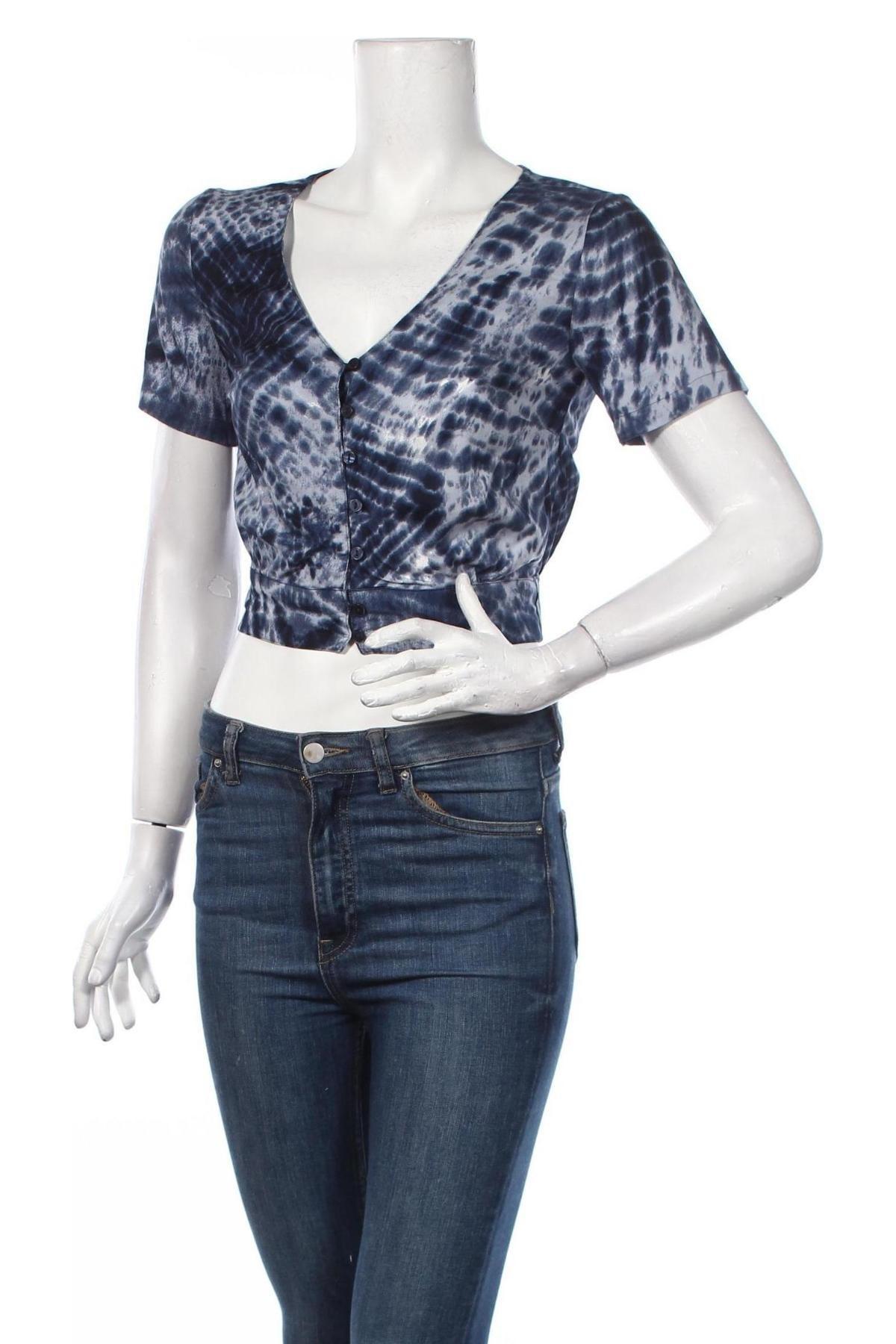 Дамска риза Clockhouse, Размер XS, Цвят Син, Вискоза, Цена 19,08лв.