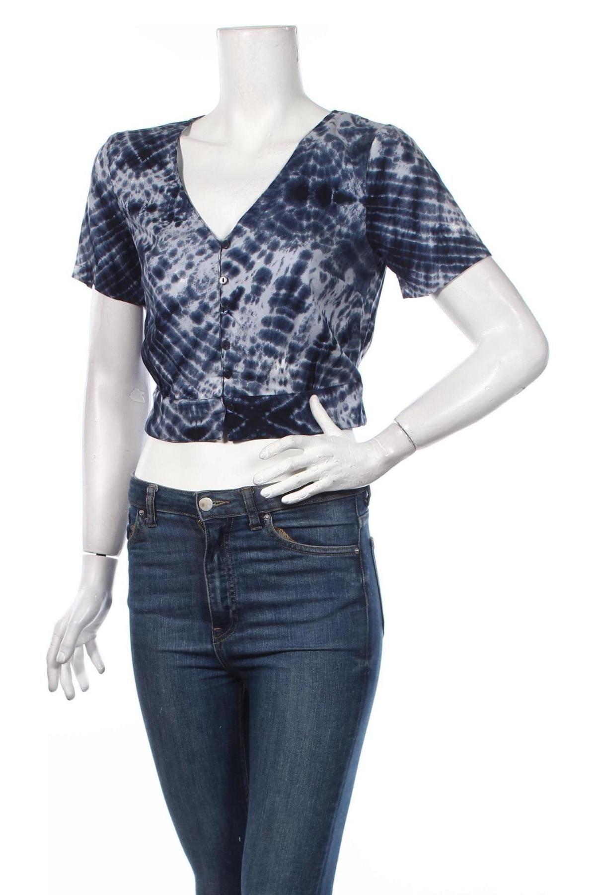 Дамска риза Clockhouse, Размер M, Цвят Син, Вискоза, Цена 19,08лв.
