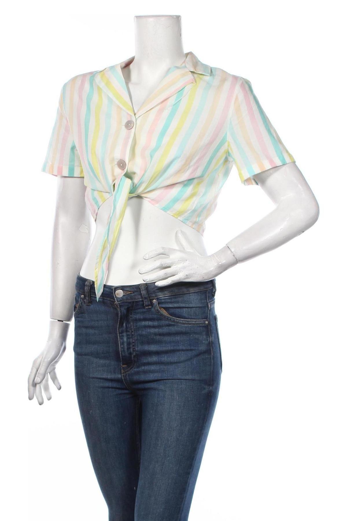 Дамска риза Clockhouse, Размер S, Цвят Многоцветен, Памук, Цена 6,12лв.