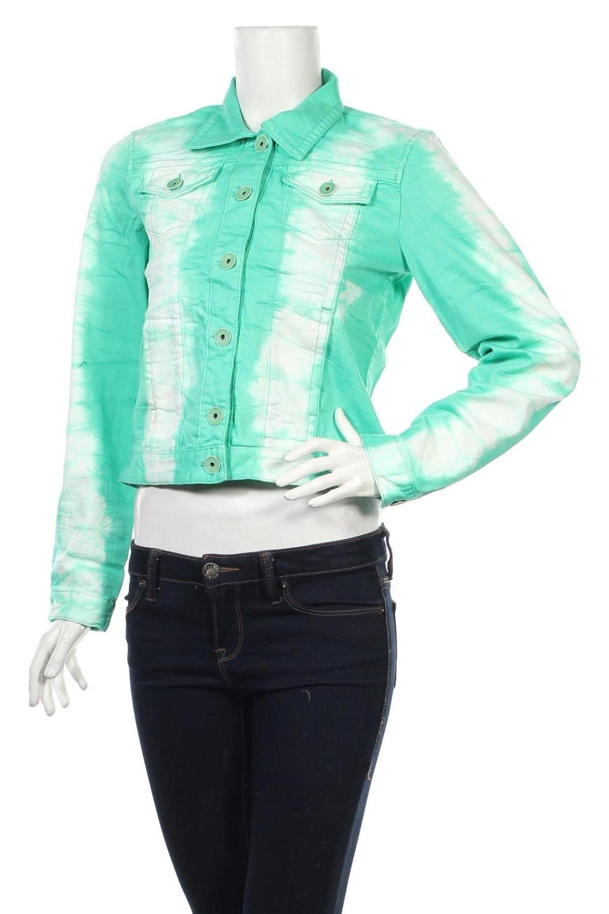 Дамско яке Liebeskind, Размер S, Цвят Зелен, 98% памук, 2% полиуретан, Цена 62,65лв.