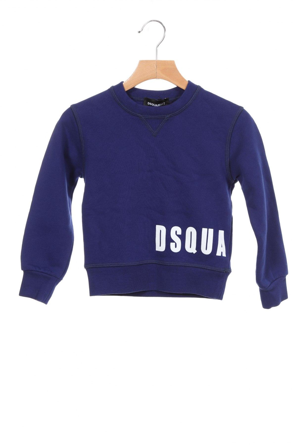 Детска блуза Dsquared2, Размер 3-4y/ 104-110 см, Цвят Син, 100% памук, Цена 92,95лв.