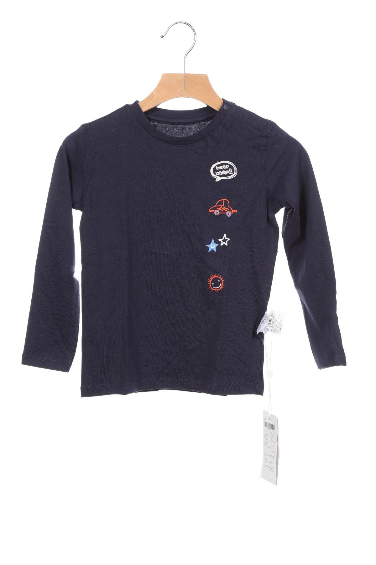 Детска блуза Oviesse, Размер 2-3y/ 98-104 см, Цвят Син, Цена 21,60лв.