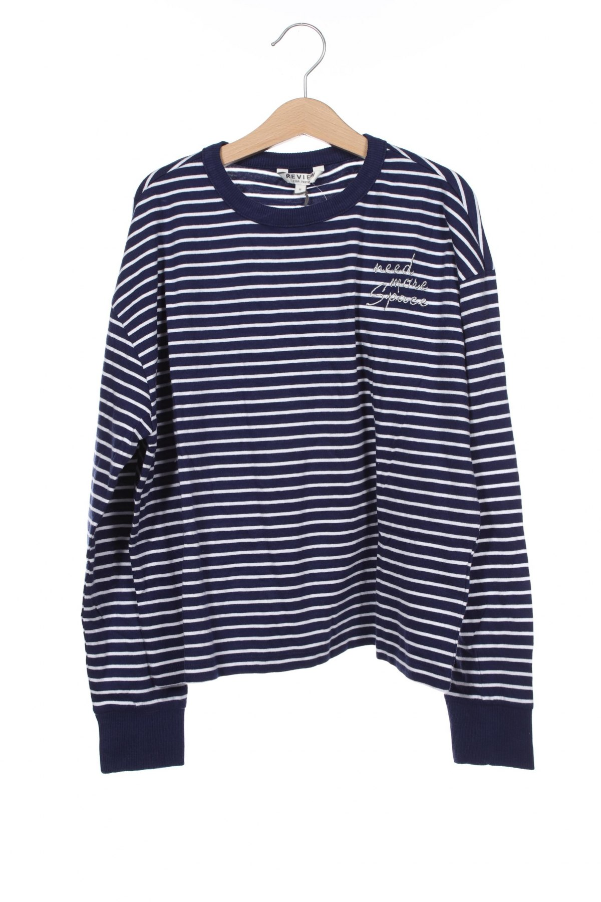 Детска блуза Review, Размер 11-12y/ 152-158 см, Цвят Син, Памук, Цена 16,32лв.