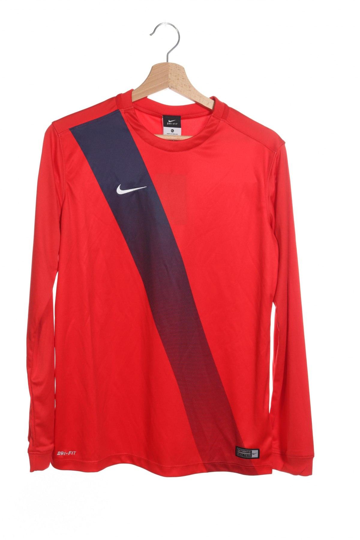 Детска спортна блуза Nike, Размер 12-13y/ 158-164 см, Цвят Червен, Полиестер, Цена 25,30лв.