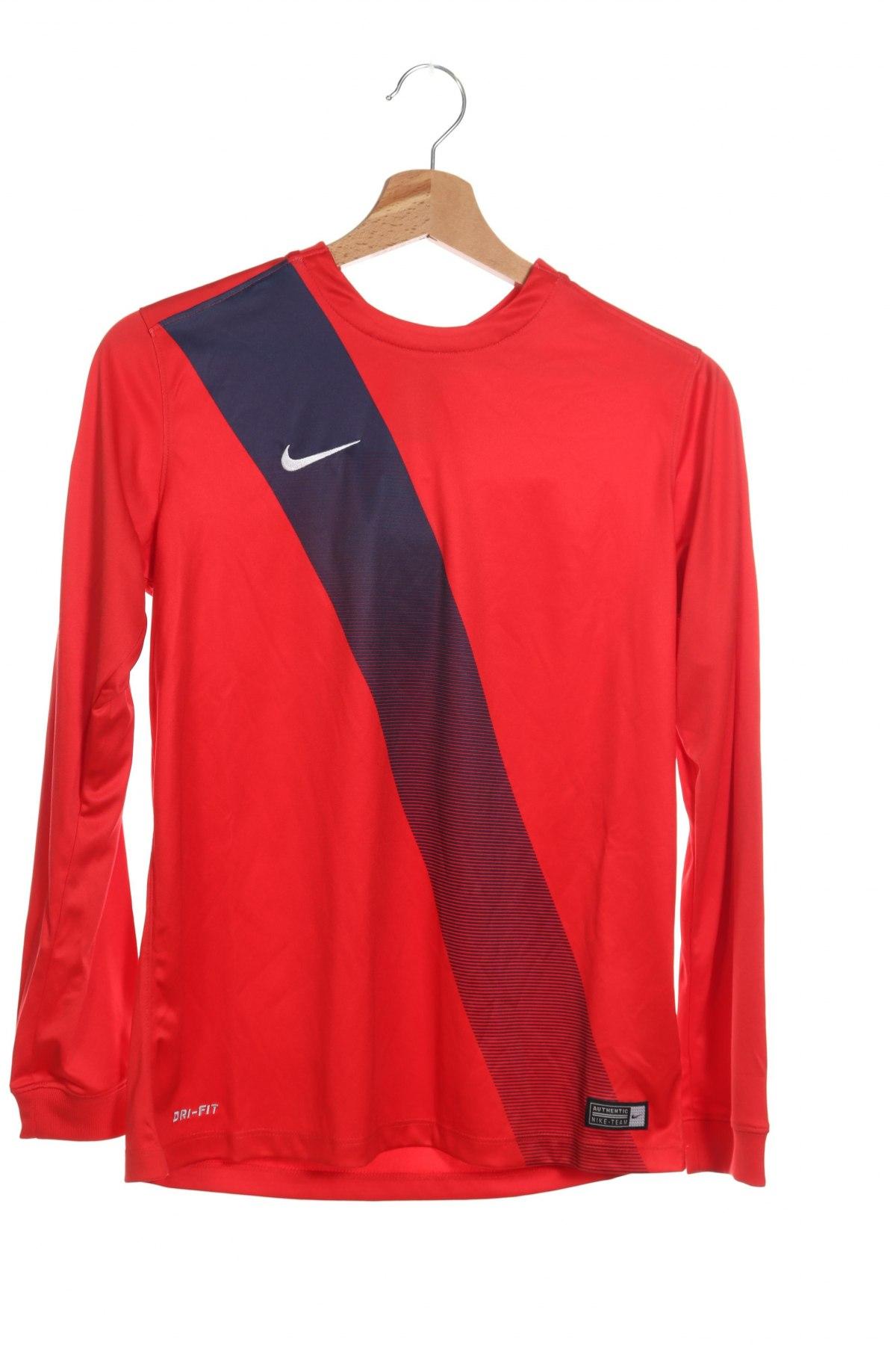Детска спортна блуза Nike, Размер 10-11y/ 146-152 см, Цвят Червен, Полиестер, Цена 34,50лв.