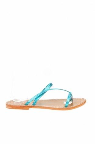 Чехли W.S Shoes, Размер 38, Цвят Син, Естествена кожа, Цена 43,61лв.