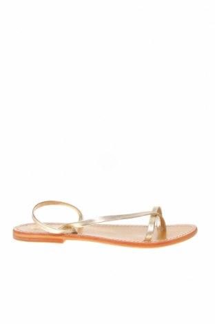 Чехли W.S Shoes, Размер 38, Цвят Златист, Естествена кожа, Цена 44,50лв.