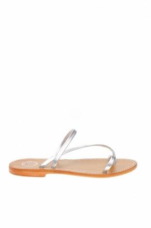 Чехли W.S Shoes, Размер 38, Цвят Сребрист, Естествена кожа, Цена 46,28лв.
