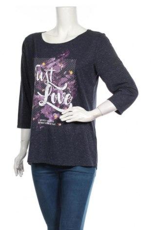 Дамска блуза Colours Of The World, Размер XL, Цвят Син, 69% полиестер, 30% вискоза, 1% метални нишки, Цена 15,12лв.
