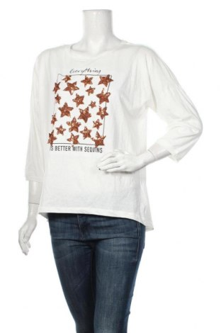 Дамска блуза Colours Of The World, Размер M, Цвят Бял, 56% памук, 44% полиестер, Цена 6,83лв.