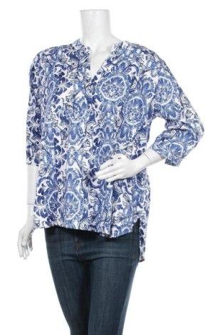 Дамска блуза Essentials by Tchibo, Размер L, Цвят Син, 97% памук, 3% еластан, Цена 12,97лв.