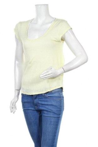 Дамска блуза Massimo Dutti, Размер S, Цвят Жълт, Лен, Цена 27,00лв.