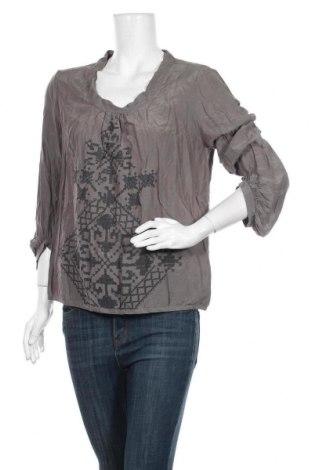 Дамска блуза Part Two, Размер M, Цвят Сив, 65% памук, 35% коприна, Цена 48,20лв.