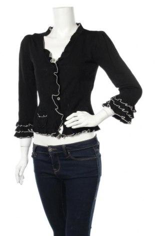 Cardigan de damă Anna Hoffmann, Mărime L, Culoare Negru, 63% viscoză, 37% poliamidă, Preț 44,10 Lei