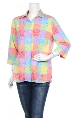 Дамска риза Alia, Размер M, Цвят Многоцветен, 52% памук, 48% полиестер, Цена 4,73лв.