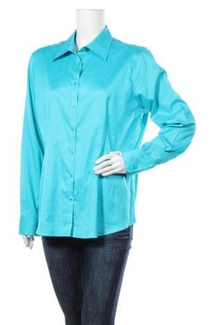 Дамска риза Kirkland, Размер XL, Цвят Син, 98% памук, 2% еластан, Цена 17,96лв.