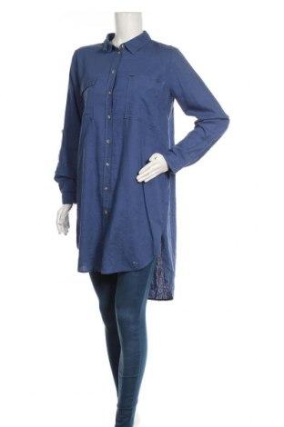 Γυναικείο πουκάμισο Tom Tailor, Μέγεθος S, Χρώμα Μπλέ, Lyocell, Τιμή 10,67€