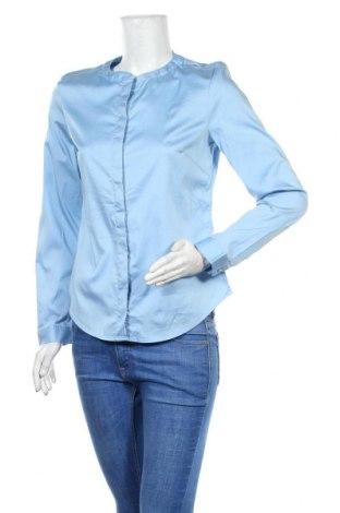 Cămașă de femei Tom Tailor, Mărime S, Culoare Albastru, 67% bumbac, 29% poliamidă, 4% elastan, Preț 64,05 Lei