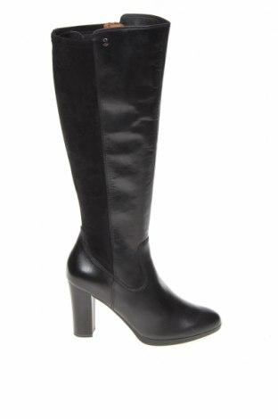 Дамски ботуши Caprice, Размер 40, Цвят Черен, Естествена кожа, текстил, Цена 112,77лв.