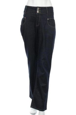 Дамски дънки, Размер XL, Цвят Син, 99% памук, 1% еластан, Цена 20,16лв.