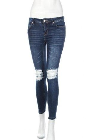 Дамски дънки, Размер S, Цвят Син, 72% памук, 24% полиестер, 2% вискоза, 2% еластан, Цена 6,83лв.