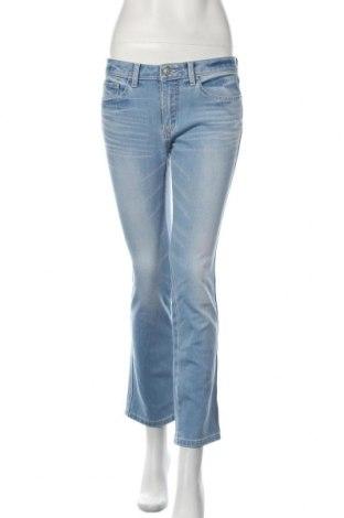 Дамски дънки, Размер M, Цвят Син, 70% памук, 30% полиестер, Цена 7,61лв.