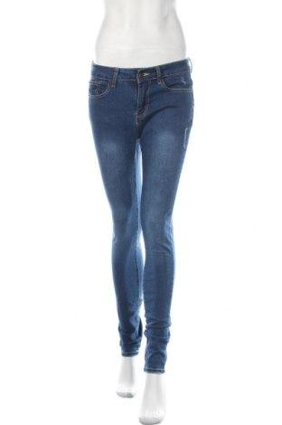 Дамски дънки, Размер S, Цвят Син, 70% памук, 27% полиестер, 3% еластан, Цена 8,82лв.