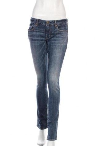 Дамски дънки American Eagle, Размер M, Цвят Син, 99% памук, 1% еластан, Цена 24,00лв.