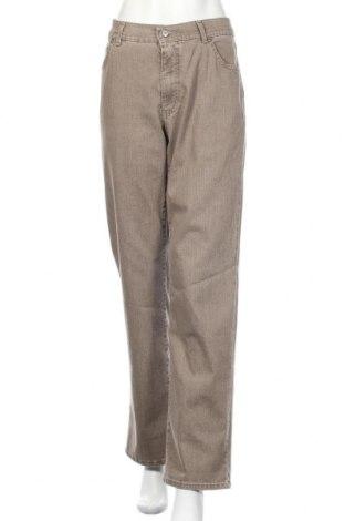 Дамски дънки Angels, Размер XL, Цвят Бежов, 85% памук, 13% полиестер, 2% еластан, Цена 16,17лв.