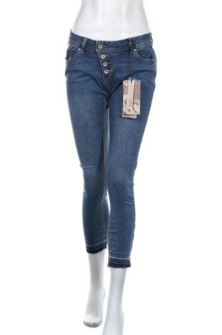 Дамски дънки Buena Vista, Размер M, Цвят Син, 60% памук, 39% полиестер, 1% еластан, Цена 23,70лв.