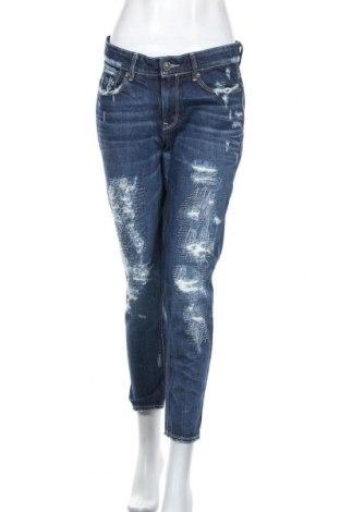 Дамски дънки G-Star Raw, Размер L, Цвят Син, 65% полиестер, 35% памук, Цена 85,92лв.