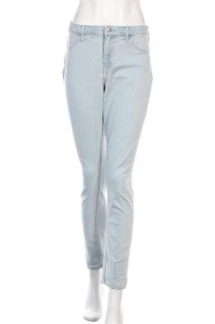 Дамски дънки H&M, Размер XL, Цвят Син, 70% памук, 17% полиестер, 12% вискоза, 1% еластан, Цена 25,50лв.
