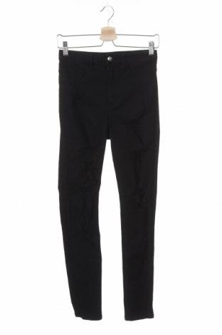 Дамски дънки H&M Divided, Размер S, Цвят Черен, 99% памук, 1% еластан, Цена 25,50лв.