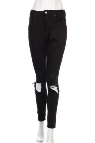 Дамски дънки H&M Divided, Размер M, Цвят Черен, 98% памук, 2% еластан, Цена 25,08лв.