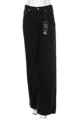 Дамски дънки Levi's, Размер M, Цвят Черен, 79% памук, 21% лиосел, Цена 138,65лв.