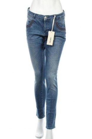 Дамски дънки MOS MOSH, Размер L, Цвят Син, 98% памук, 2% еластан, Цена 33,86лв.