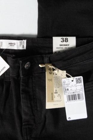Дамски дънки Mango, Размер M, Цвят Черен, 86% памук, 12% полиестер, 2% еластан, Цена 25,37лв.