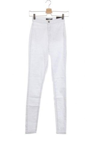 Дамски дънки Missguided, Размер XXS, Цвят Бял, 98% памук, 2% еластан, Цена 16,80лв.