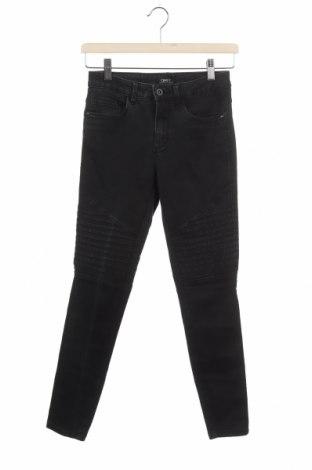 Дамски дънки ONLY, Размер XS, Цвят Черен, 69% памук, 29% полиестер, 2% еластан, Цена 21,78лв.