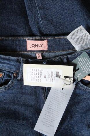 Дамски дънки ONLY, Размер S, Цвят Син, 98% памук, 2% еластан, Цена 28,56лв.