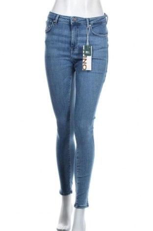 Дамски дънки ONLY, Размер XL, Цвят Син, 92% памук, 6% други тъкани, 2% еластан, Цена 25,37лв.