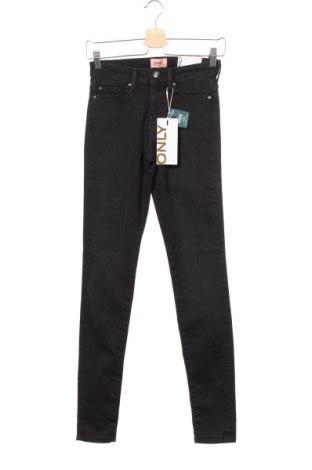 Дамски дънки ONLY, Размер XS, Цвят Черен, 53% памук, 30% лиосел, 15% полиестер, 2% еластан, Цена 33,12лв.