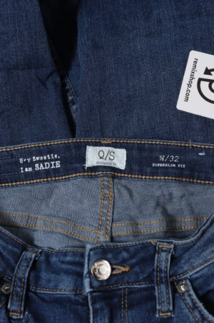 Дамски дънки Q/S by S.Oliver, Размер XS, Цвят Син, 99% памук, 1% еластан, Цена 29,37лв.