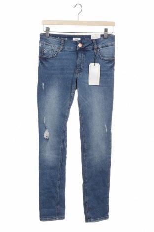 Дамски дънки Q/S by S.Oliver, Размер XS, Цвят Син, 99% памук, 14% еластан, Цена 31,68лв.