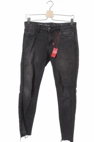 Дамски дънки S.Oliver, Размер XS, Цвят Сив, 99% памук, 1% еластан, Цена 22,44лв.