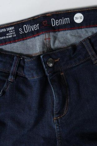Дамски дънки S.Oliver, Размер M, Цвят Син, 48% памук, 34% лиосел, 14% полиестер, 4% еластан, Цена 31,68лв.