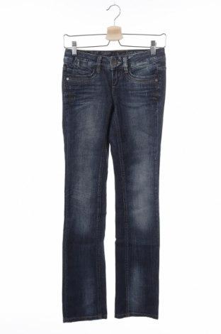 Дамски дънки Tom Tailor, Размер XS, Цвят Син, 99% памук, 1% еластан, Цена 27,72лв.