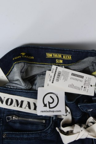 Дамски дънки Tom Tailor, Размер M, Цвят Син, 82% памук, 17% полиестер, 1% еластан, Цена 27,72лв.