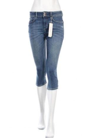 Дамски дънки Tom Tailor, Размер S, Цвят Син, 69% памук, 29% полиестер, 2% еластан, Цена 20,47лв.